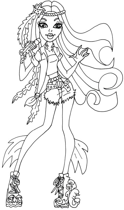 monster high dolls coloring pages coloring home