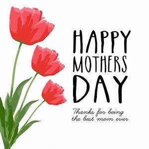 Tarjeta feliz día de la madre con rosas | Descargar ...