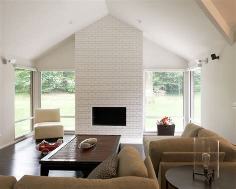 painted brick fireplace bring a white brick fireplace to your and house Modern