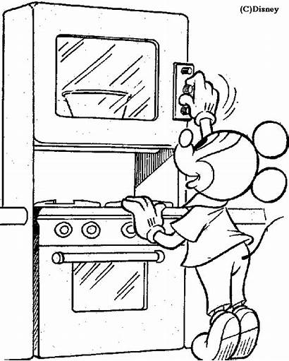 Coloring Kitchen Mickey Pages Colorear Para Cocina