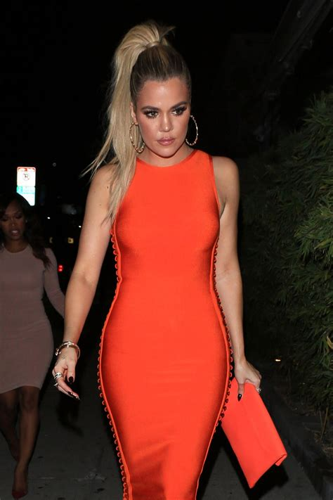 KHLOE KARDASHIAN Out for Dinner at Koi in West Hollywood ...