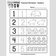 This Is A Preschool Numbers Worksheet Kids Can Learn How To Write Numbers Up To 5 You Can