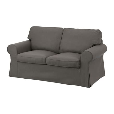 grey ektorp sofa ektorp cover two seat sofa nordvalla grey ikea