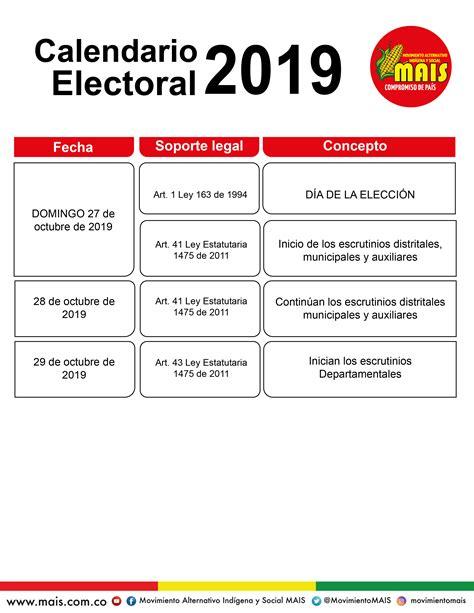 calendario electoral mais movimiento alternativo