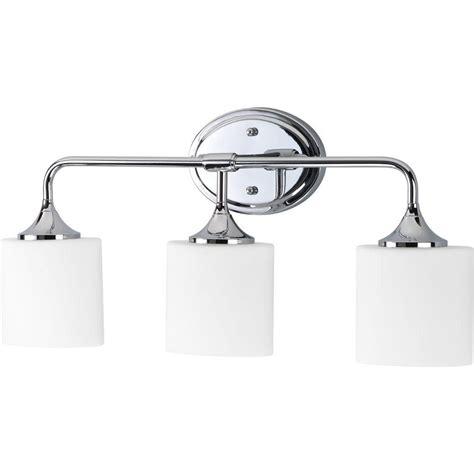 Bathroom Light Fixtures At Home Depot by 99 Progress Lighting Lynzie 3 Light Chrome Vanity Fixture