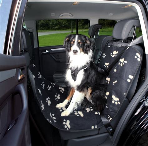 hunde autoschondecke fleecenylon optic schwarzbeige