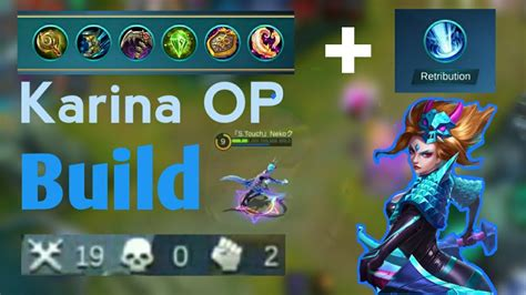 Mobile Legends Karina Best Op Build Ever !!easy Quadrakill