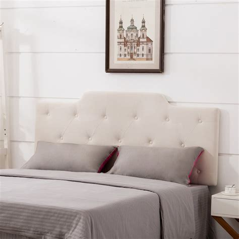 Upholstered Headboard Velvet Button Tufted Adjustable