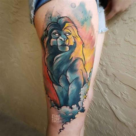 mufasa lion king tattoo  tattoo ideas gallery