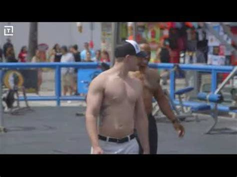 muscle beach  man strength funny youtube