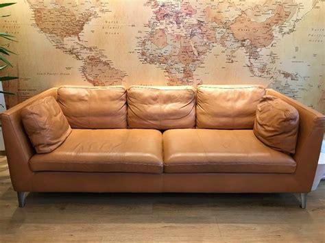 ikea stockholm real leather sofa bargain  meadowbank
