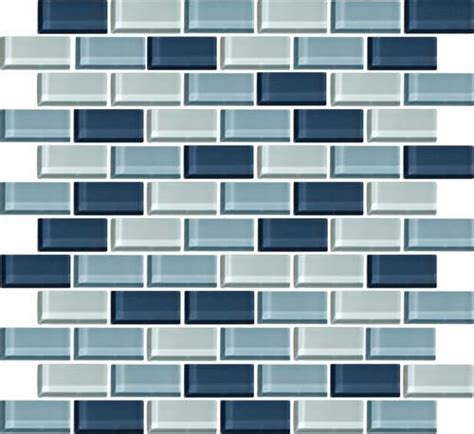 """See more ideas about penny tile, penny round tiles, tile patterns. Mohawk® Color Wave Winter Blues Brick Joint 13"""" x 12"""" Glass Mosaic Tile (With images) 