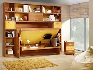 Jugendzimmer Platzsparend : jugendzimmer mit schrankbett sehen cool aus ~ Pilothousefishingboats.com Haus und Dekorationen