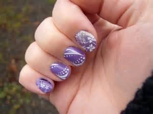 Purple designed nail designs picture
