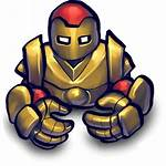 Icon Comics Robot Icons Watercolor Ico Fighter