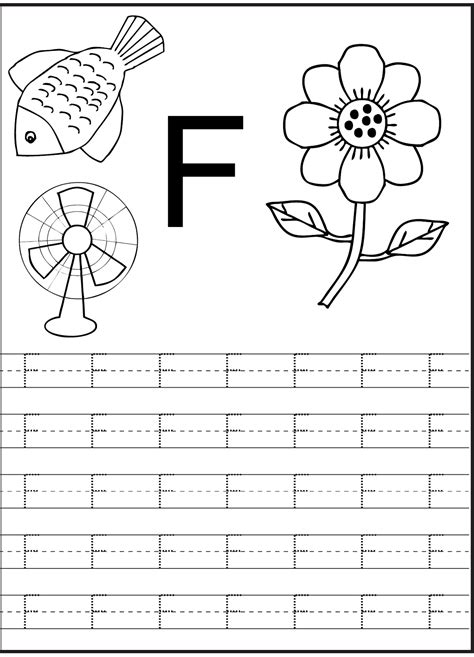 letter f worksheet for preschool and kindergarten 443 | b911f4eb91e800b15a36483d36d710e4