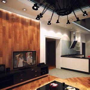 desain interior rumah dinding panel kayu nuansa minimalis