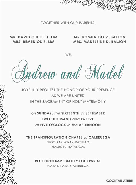 diy invitation andrew madel  wedding