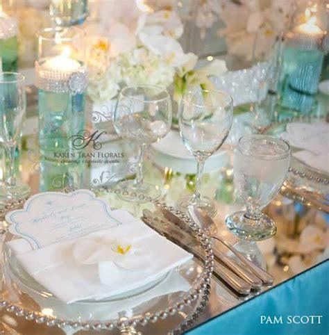 tiffany blue table decorations caribbean islands tiffany blue wedding reception table