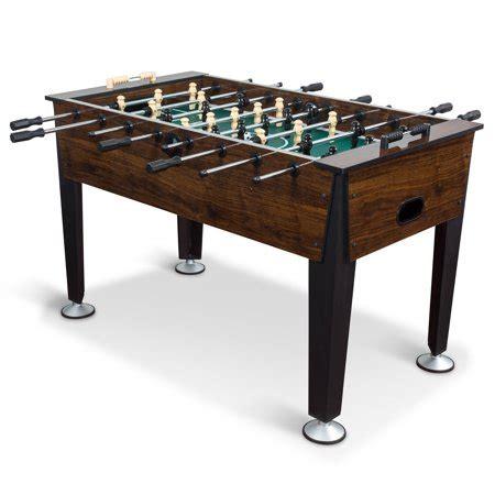 classic sport newcastle foosball table brown wood finish