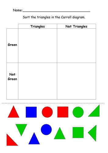 Carroll Diagram Ks2 by Carrol Diagram 2d Shapes Cut And Stick By Ruthbentham