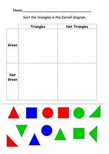 Carrol Diagram 2d Shapes - Cut And Stick By Ruthbentham - Teaching Resources