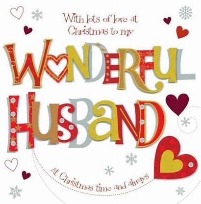 Husband Wonderful Christmas Card Wishes Greeting Wife