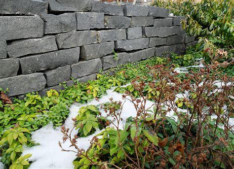 Trockenmauer  Natursteinmauer Als Hangbefestigung Aus