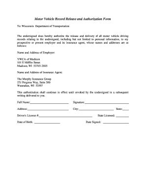 authorization  release vehicle form edit print