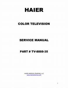 Haier 46ep14s Plasma Television Schematic Diagram Manual
