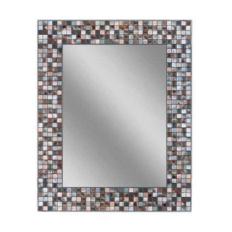 deco mirror 30 in l x 24 in w earthtone copper bronze
