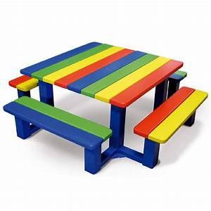 Table Pique Nique Enfant : table pique nique enfants multicolore r cr ~ Dailycaller-alerts.com Idées de Décoration