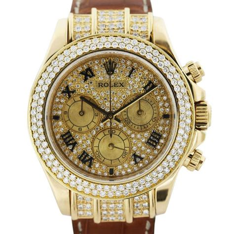 All Diamond Rolex Daytona 116518 Mens Watch -Boca Raton