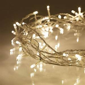 Indoor, Fairy, Lights, With, 100, Warm, White, Leds, On, 8m, Of, Clear, Cable, 220volt, Not, For, Usa