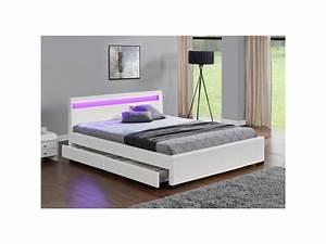 Lit En 160x200 : lit enfield structure de lit en simili blanc avec ~ Teatrodelosmanantiales.com Idées de Décoration