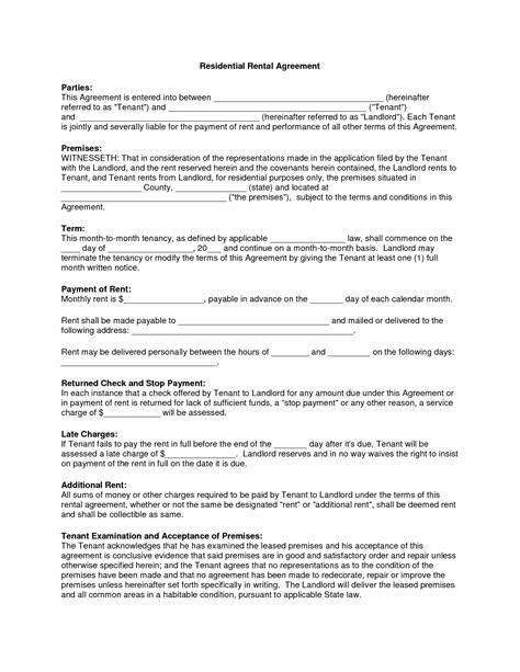 copy rental lease agreement residential rental