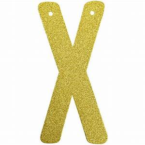 glitter letter banner garland 6inch gold letter x With gold letter garland