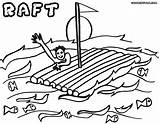 Raft Coloring Pages Open sketch template
