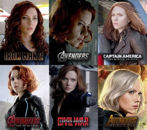 How Come Black Widow Has Different Hair The Avengers