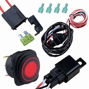 Nilight Off Road Atv Jeep Led Light Bar Wiring Harness Kit