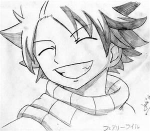 Natsu's priceless smile by janesmee on DeviantArt