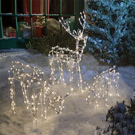 lighted deer family 3 piece set big lots