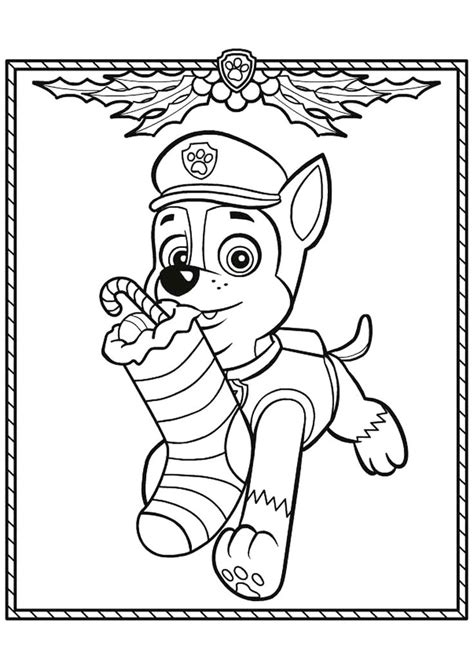 Image result for paw patrol christmas colouring in Paw