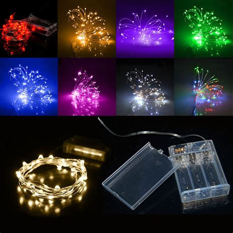 battery operated outdoor string lights led 2m 3m 4m 5m 10m light string battery