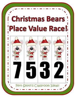 Place Value Practice Based On Common Core For Christmas!  Fern Smith's Classroom Ideas