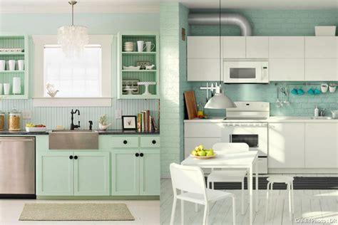 facade meuble cuisine ikea osez la déco menthe à l eau maison créative