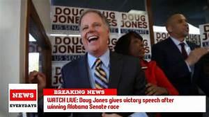 WATCH LIVE: Doug Jones gives victory speech after winning ...