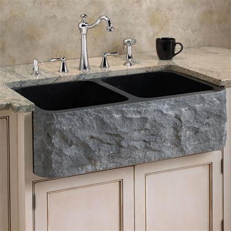 polished granite bowl farmhouse sink chiseled