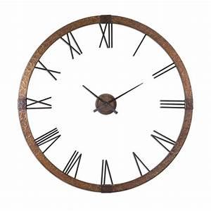 "Uttermost Amarion 60"" Wall Clock 06655"