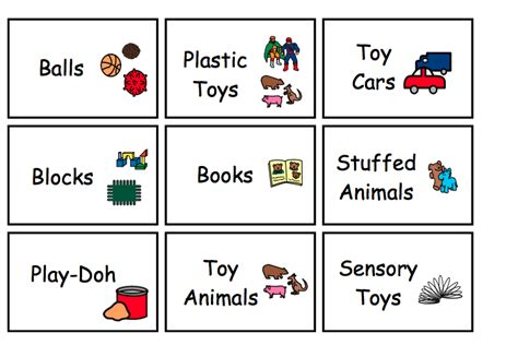 8 best images of free printable room free 447 | preschool classroom printable labels for toys 418343
